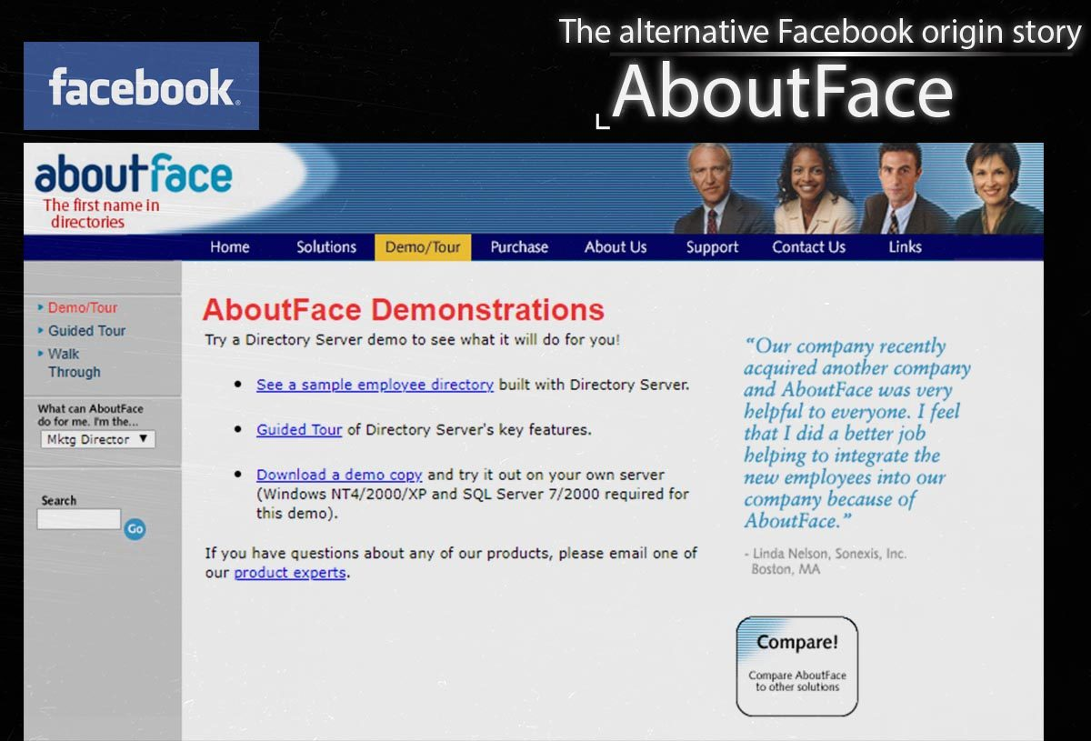 About Face – The Alternative Facebook Origin Story